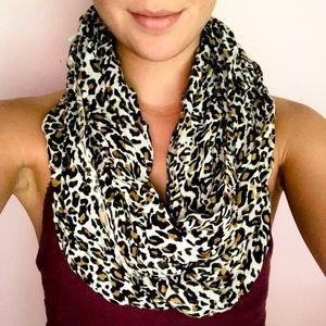 Big Buddha cheetah print infinity scarf
